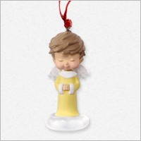2016 Mary's Angel Complement Honeysuckle Angel *MINIATURE *Club Hallmark Keepsake Ornament 2016MiniHoneysuckle