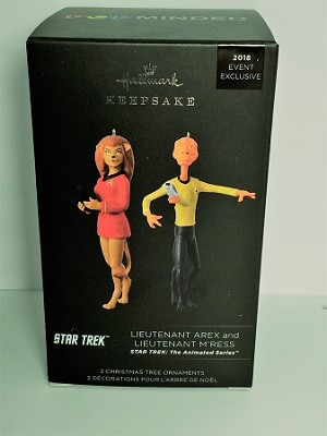 2018 Star Trek LIEUTENANT AREX & LIEUTENANT M'RESS *Comic Con Exclusive Hallmark Keepsake Ornament QMP4046