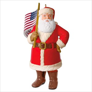 2018 Saluting Old Glory Santa Hallmark Keepsake Ornament QGO2146
