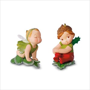 2018 Baby Fairy Messengers 4th and Final Mistletoe and Holly *Miniature Hallmark Keepsake Ornament QX9493