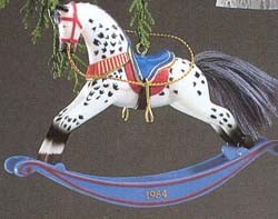1984 Rocking Horse 4th (MIB) Hallmark Keepsake Ornament 1000QX4354