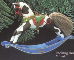 1985 Rocking Horse 5th (MIB) Hallmark Keepsake Ornament 1075QX493-2