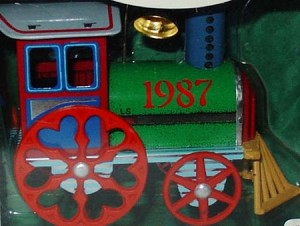 1987 Tin Locomotive 6th Hallmark Keepsake Ornament 1475QX4849