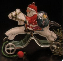 1991 Galloping Into Christmas..Tin *Club Hallmark Keepsake Ornament QXC4779