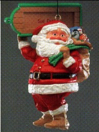 1989 Visit From Santa *Club (NB) Hallmark Keepsake Ornament QXC5802-2