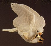 1990 Dove Of Peace *Club (signed by Linda Sickman) Hallmark Keepsake Ornament 2475QXC447-6