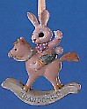 1991 Grandchild Bunny on Rocking Horse Spring/Easter Hallmark Ornament at Ornament Mall