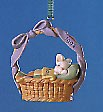 1994 Baby's First Easter Bunny Sleeping in Basket Spring/Easter Hallmark Ornament at Ornament Mall