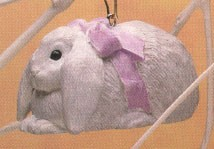 1993 Lop Eared Bunny Spring/Easter Hallmark Ornament at Ornament Mall