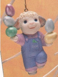 1993 Son Lamb Juggling Eggs Spring/Easter Hallmark Ornament at Ornament Mall