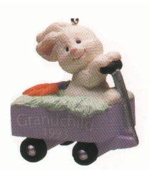 1993 Grandchild Bunny in Wagon Spring/Easter Hallmark Ornament at Ornament Mall