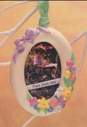 1993 Beautiful Memories Photo Holder Spring/Easter Hallmark Ornament at Ornament Mall