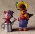1998 The Garden of Piglet & Pooh set/2 Spring/Easter Hallmark Ornament at Ornament Mall