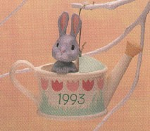 1993 Backyard Bunny Spring/Easter Hallmark Ornament at Ornament Mall