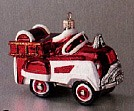 1998 Kiddie Car 1955 Murray Firetruck *Blown Glass Hallmark Keepsake Ornament QBG6909