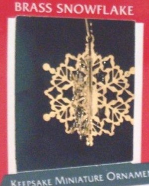 1989 Brass Snowflake *Miniature Hallmark Keepsake Ornament 450QXM570-2