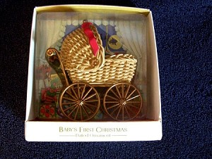 1981 Baby's First Christmas Carriage  Hallmark Keepsake Ornament 1300QX440-2