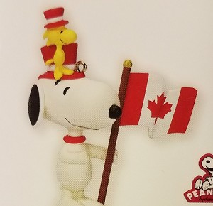 2013 Peanuts Monthly Series 12th Snoopy Patriotic Pals *Canadian  Hallmark Keepsake Ornament QX9855-2