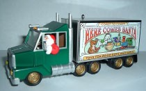 2003 Here Comes Santa 25th & Final Santa's Big Rig *Colorway RTW GREEN Hallmark Keepsake Ornament Color1495QX816-7-2