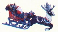 1997 Santa's Magical Sleigh Colorway RARE *Signed Hallmark Keepsake Ornament QX6672CW