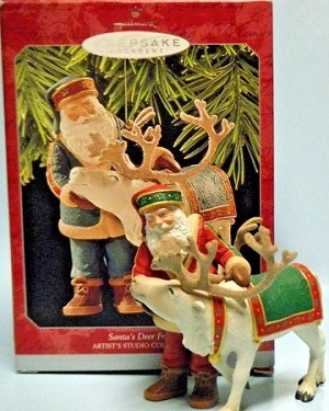 1998 Santa's Deer Friend  Hallmark Ornament at Ornament Mall