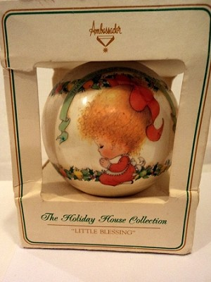 1980 Ambassador Little Blessing Ball (SDB) Hallmark Keepsake Ornament QX17H