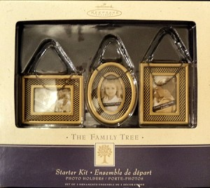 2003 Family Tree Starter Kit Set of 3 Metal and Glass Hallmark Keepsake Ornament QEP1308
