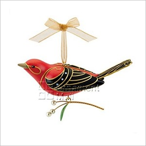 2011 Beauty of Birds Scarlet Tanager *Event Repaint (SIGNED BY ARTIST) Hallmark Keepsake Ornament 2011EventBird-2