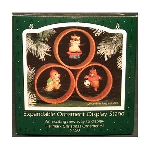 1985 Expandable Ornament Display Stand Holds 3 Ornaments Hallmark Keepsake Ornament QX3534