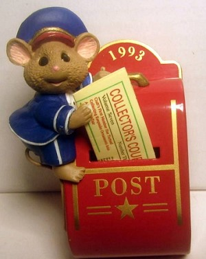 1993 It's in the Mail Mouse *Club Hallmark Keepsake Ornament QXC5272
