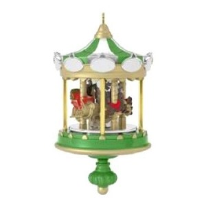 2017 Christmas Carousel 1st *Miniature *Repaint KOC Event Game Prize Hallmark Keepsake Ornament QXM8565-2