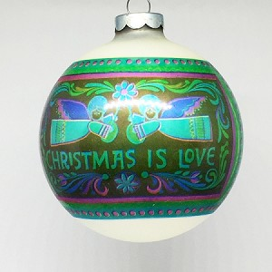 1973 Christmas Is Love Ball (NB) Hallmark Keepsake Ornament 250XHD106-2