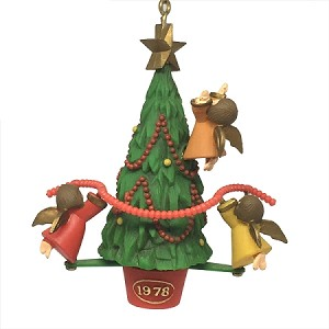 1978 Angels Circling Tree MIB Hallmark Keepsake Ornament 800QX149-6-2