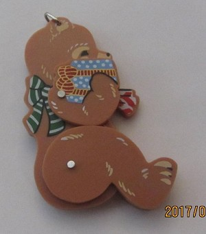 1980's Jointed Bear Trimmer..Very Rare  Hallmark Keepsake Ornament Bear Trim-2