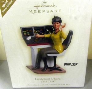 2009 Star Trek Lieutenant Uhura *Comic Con Exclusive *Colorway VERY RARE Hallmark Keepsake Ornament QMP4008