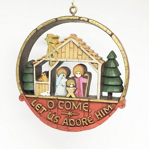 1977 Nostalgia Nativity (SDB) Hallmark Keepsake Ornament 500QX181-5-2