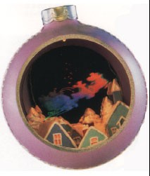 1986 Santa's On His Way Panorama Ball *Magic Hallmark Keepsake Ornament QLX7115