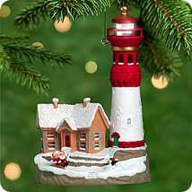 2000 Lighthouse Greetings 4th *Magic Hallmark Keepsake Ornament QLX7344