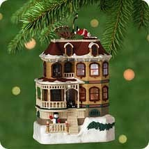 2001 Up On The Housetop  *Magic Hallmark Keepsake Ornament QLX7575