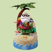 2004 Santa's Hula Day *Magic  Hallmark Keepsake Ornament QLX7631