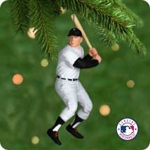 2001 At the Ballpark Complement Mickey Mantle Hallmark Keepsake Ornament 1495QXI6804