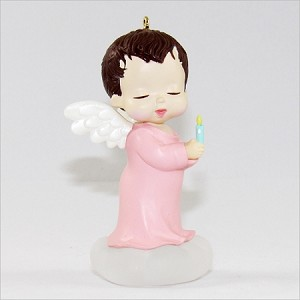 1990 Mary's Angels-Rosebud 3rd (SDB) Hallmark Keepsake Ornament 575QX442-3