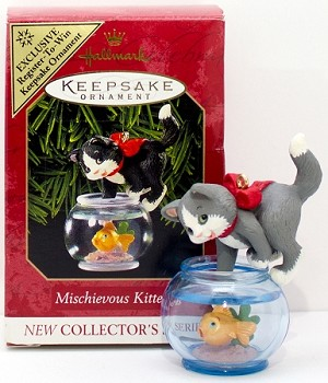 1999 Mischievous Kittens 1st *Colorway Hallmark Keepsake Ornament 1300CQX642-7