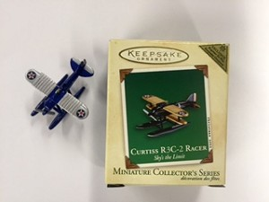 2003 Miniature Sky's the Limit 3rd Curtiss R3C-2 Racer *Miniature *Colorway Hallmark Keepsake Ornament 695QXM487-7-2
