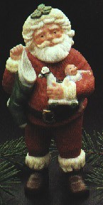 1986 Jolly St. Nick LTD. ED.*Club Porcelain Santa Hallmark Keepsake Ornament QX4296