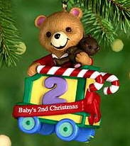 2000 Baby's Second Christmas-Bear Hallmark Keepsake Ornament 795QX692-1