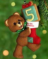 2000 Child's 5th Christmas-Bear Hallmark Keepsake Ornament 795QX693-4