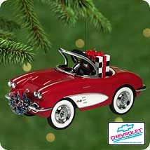 2001 1958 Custom Corvette  *Club  Hallmark Keepsake Ornament QXC450-5