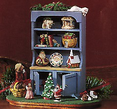 1994 Mrs. Claus's Cupboard *Club Event Display Unsigned (SDB) Hallmark Keepsake Ornament QXC4843-2