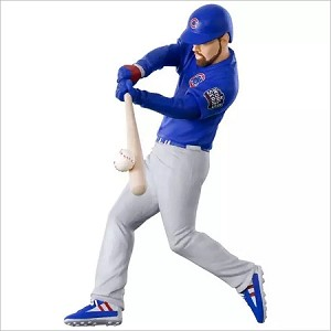 2017 Baseball Ben Zobrist Chicago Cubs Hallmark Keepsake Ornament QXI1542